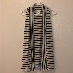 Pink Rose Black and Cream Striped Sweater/Cover
